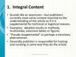 1 integral content