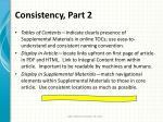consistency part 2