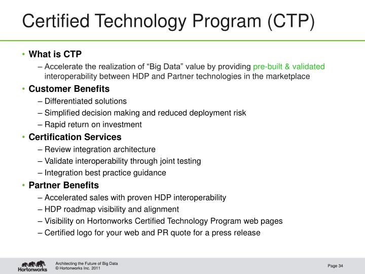Certified Technology Program (CTP)