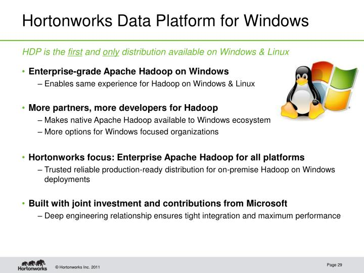 Hortonworks Data Platform for Windows