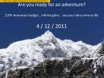 are you ready for an adventure1
