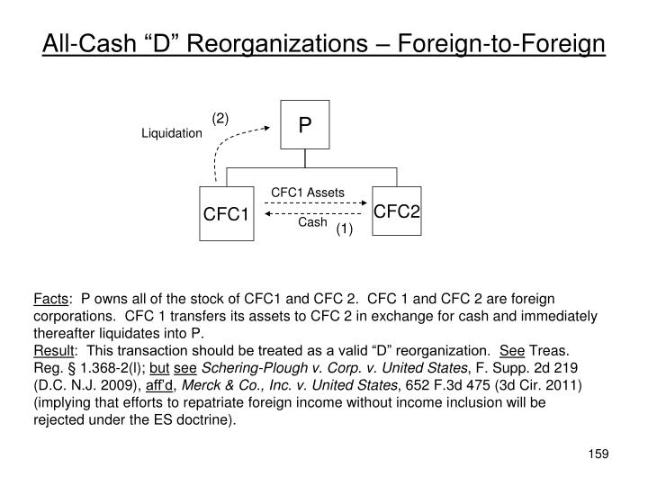 "All-Cash ""D"" Reorganizations – Foreign-to-Foreign"