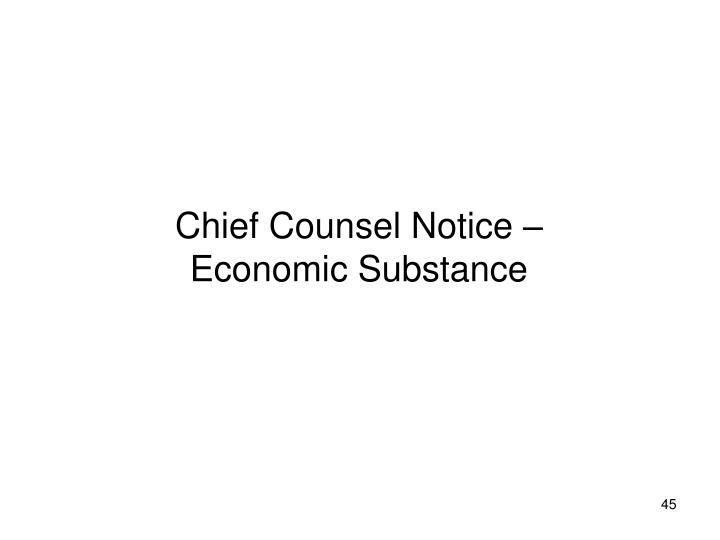 Chief Counsel Notice –
