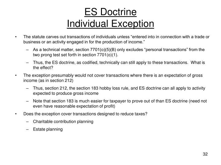 ES Doctrine