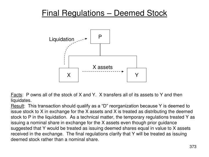 Final Regulations – Deemed Stock