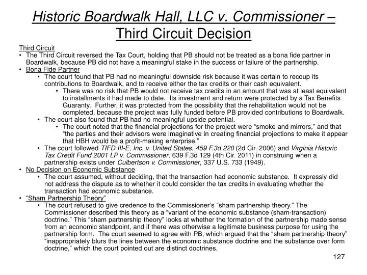 Historic Boardwalk Hall, LLC v. Commissioner –