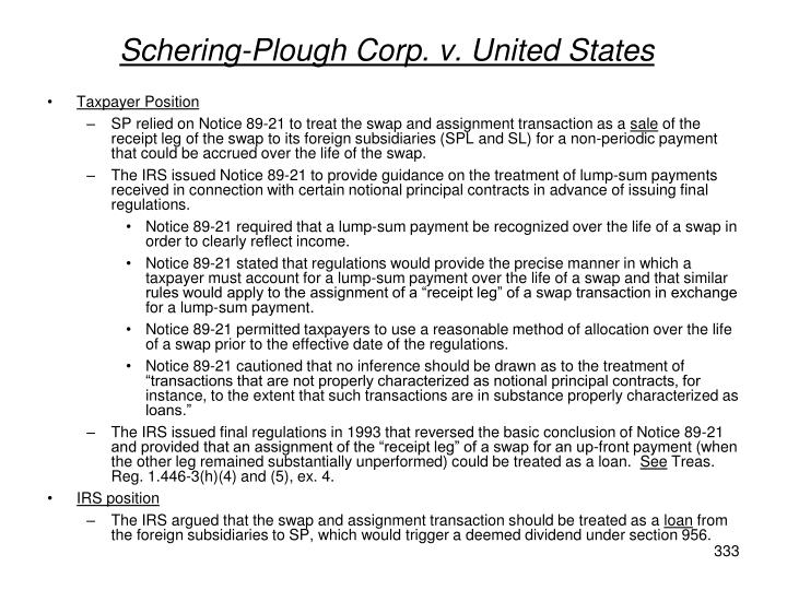 Schering-Plough Corp. v. United States