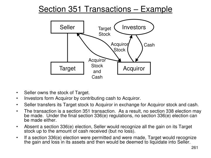 Section 351 Transactions – Example