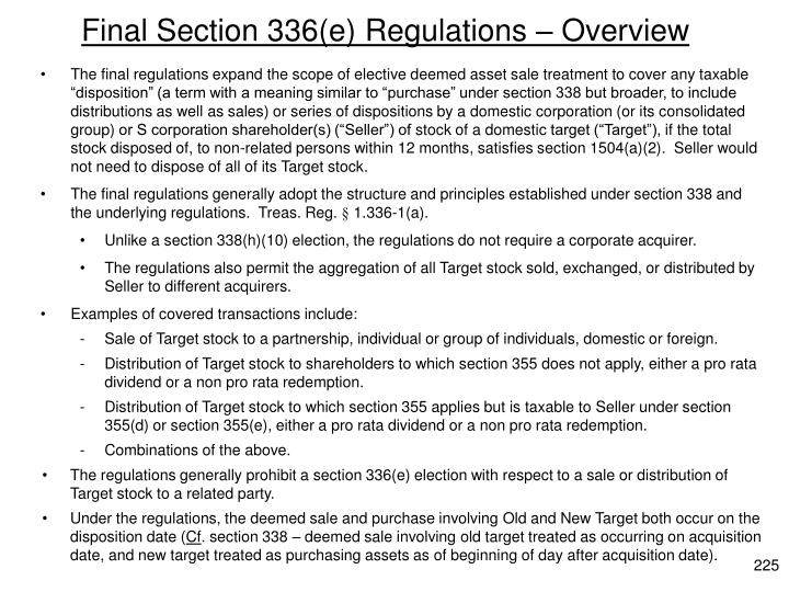Final Section 336(e)