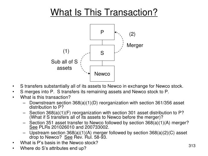What Is This Transaction?