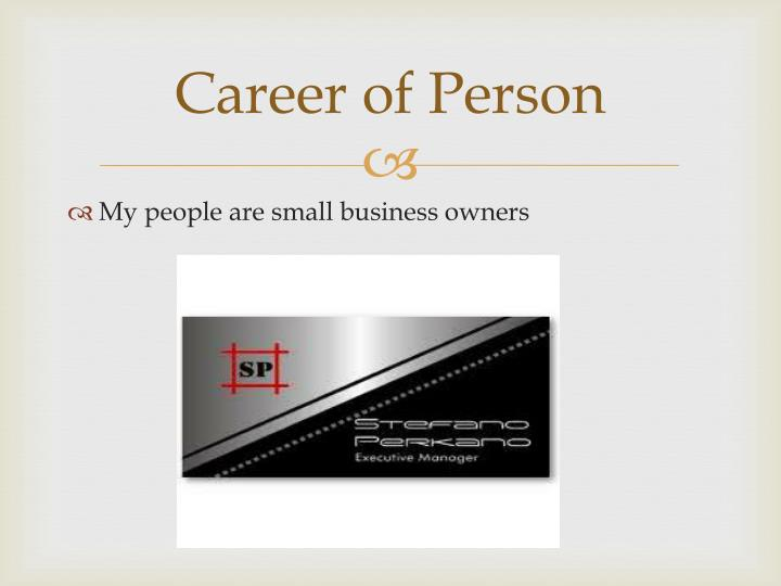 Career of Person