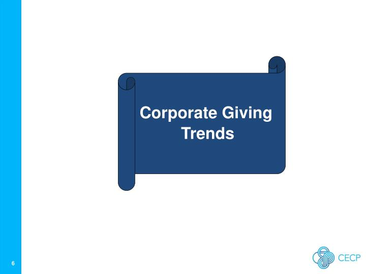 Corporate Giving Trends