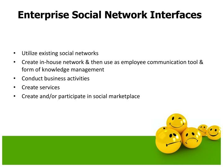 Utilize existing social networks