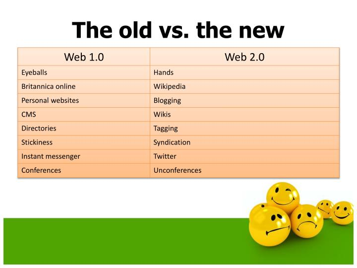 The old vs. the new