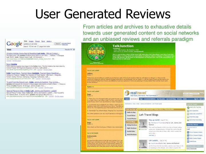 From articles and archives to exhaustive details towards user generated content on social networks and an unbiased reviews and referrals paradigm