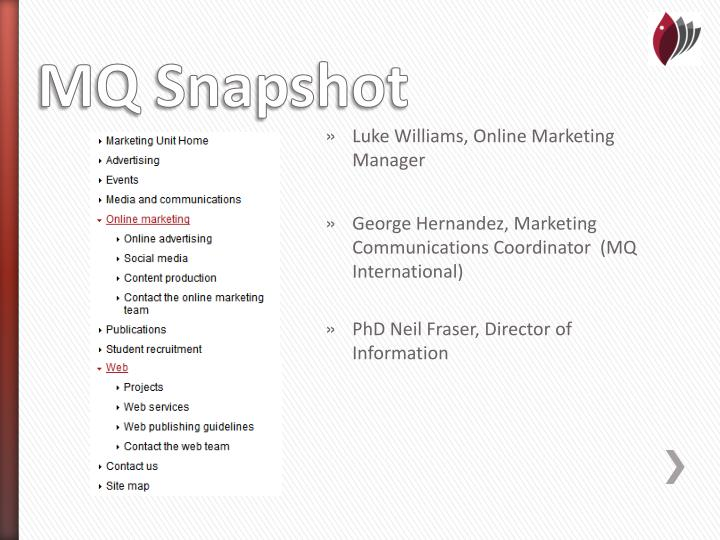 Luke Williams, Online Marketing Manager