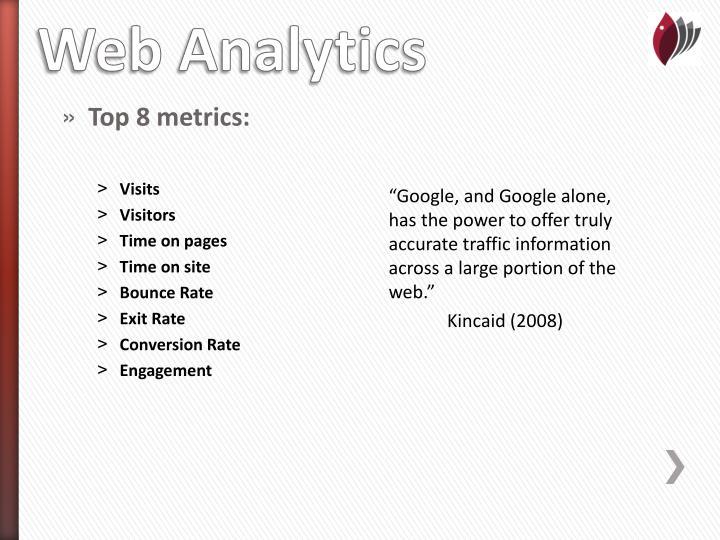 Top 8 metrics: