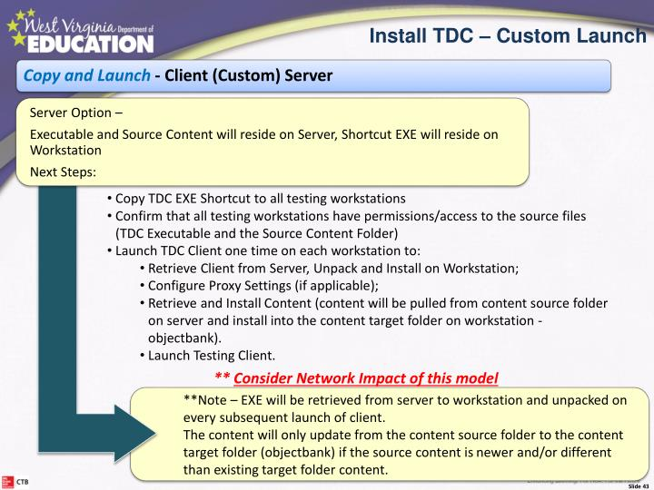 Copy TDC EXE Shortcut to all