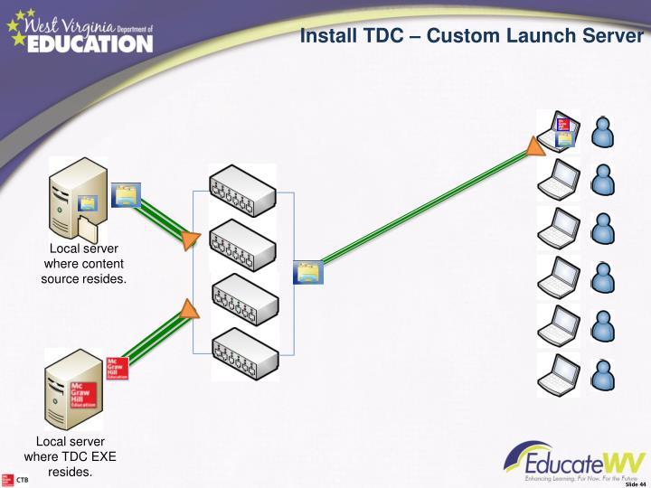 Install the TDC – Custom