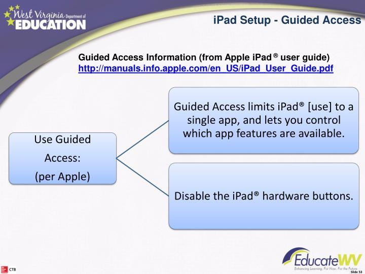 iPad Setup