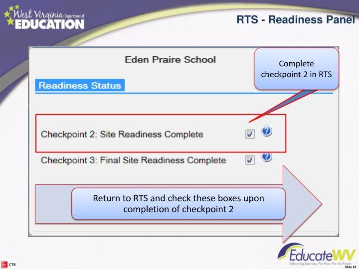 RTS Readiness Panel