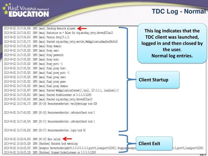 TDC Log - Normal