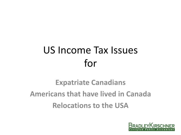 us income tax issues for n.