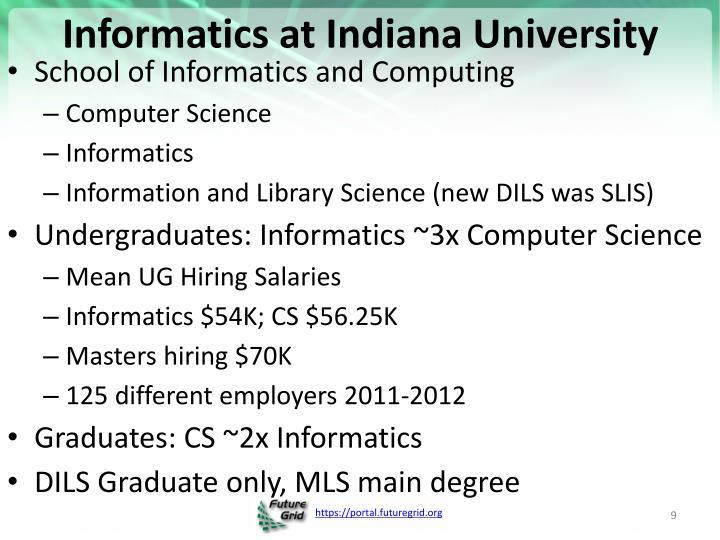 Informatics at Indiana University