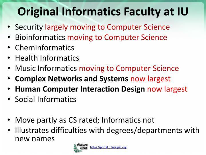 Original Informatics Faculty at IU