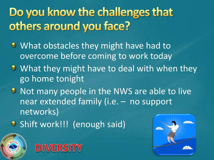 Do you know the challenges that others around you face?
