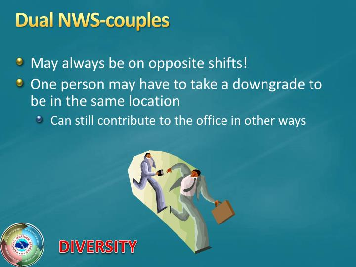 Dual NWS-couples