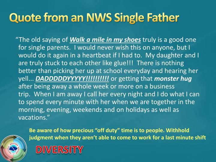 Quote from an NWS Single Father