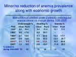 minor no reduction of anemia prevalence along with economic growth