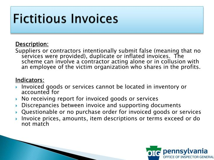 Fictitious Invoices