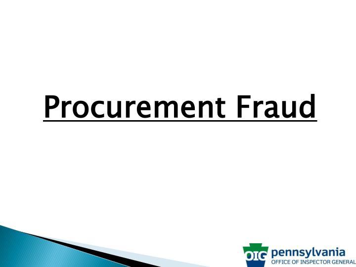 Procurement Fraud