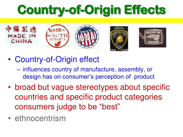 country of origin consumer s perception and Effects of country of origin and product features on customer purchase intention: the consumer would take the form of perception in that product's quality.