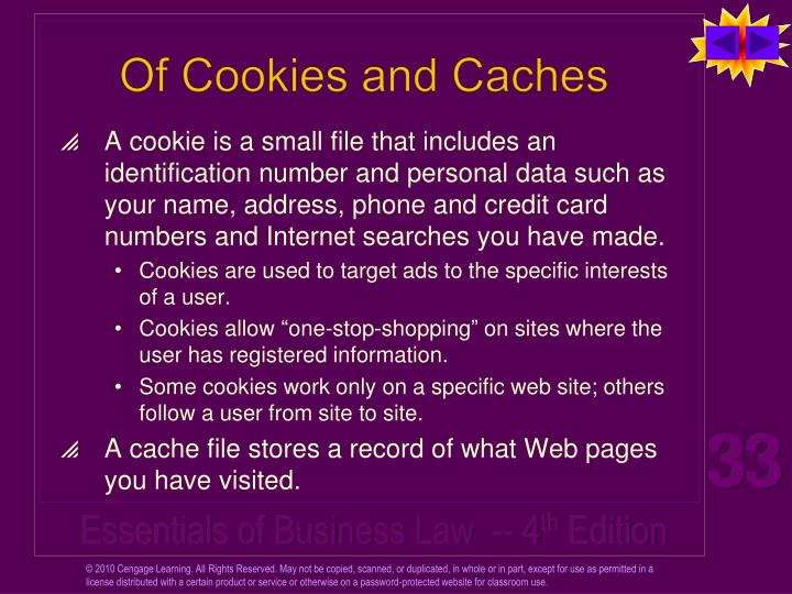 Of Cookies and Caches