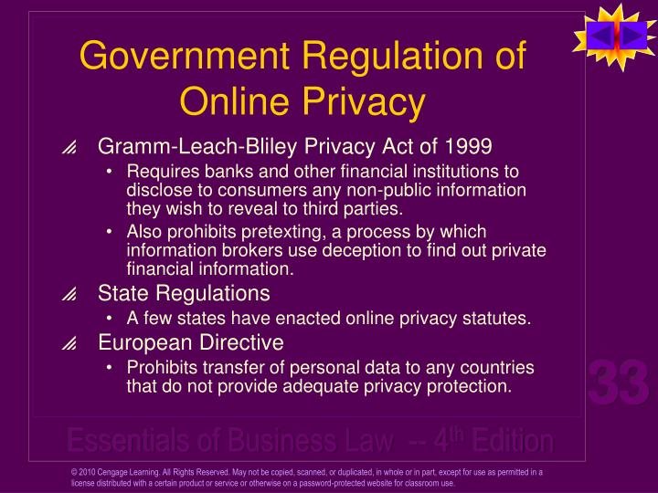 Government Regulation of