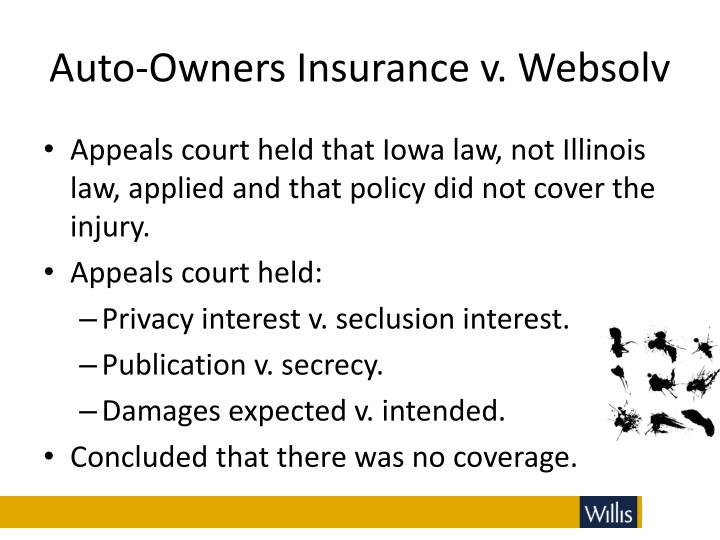 Auto-Owners Insurance v. Websolv