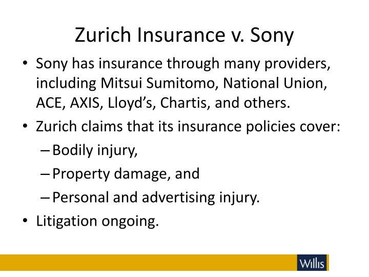 Zurich Insurance v. Sony