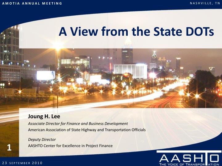 A View from the State DOTs