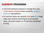 in memory processing