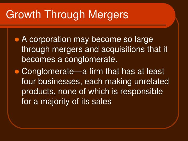 Growth Through Mergers