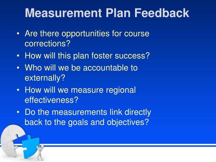 Measurement Plan Feedback