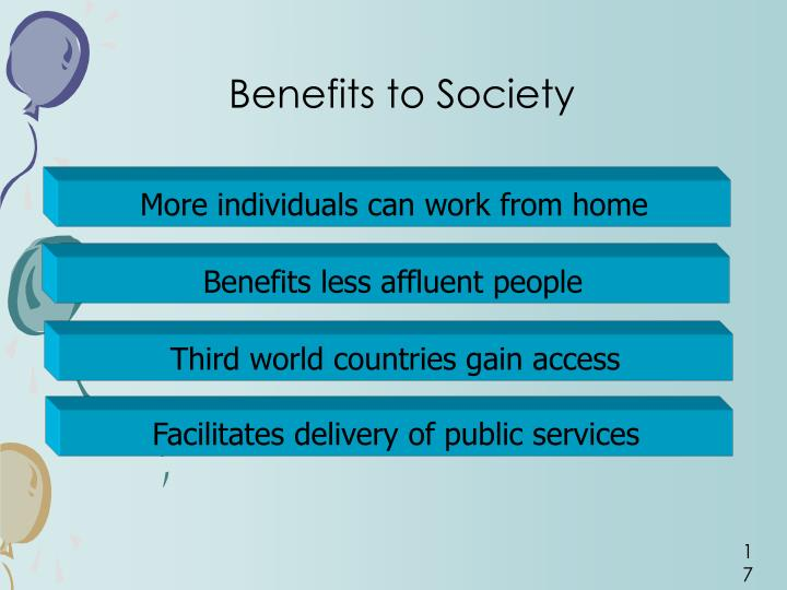 Benefits to Society