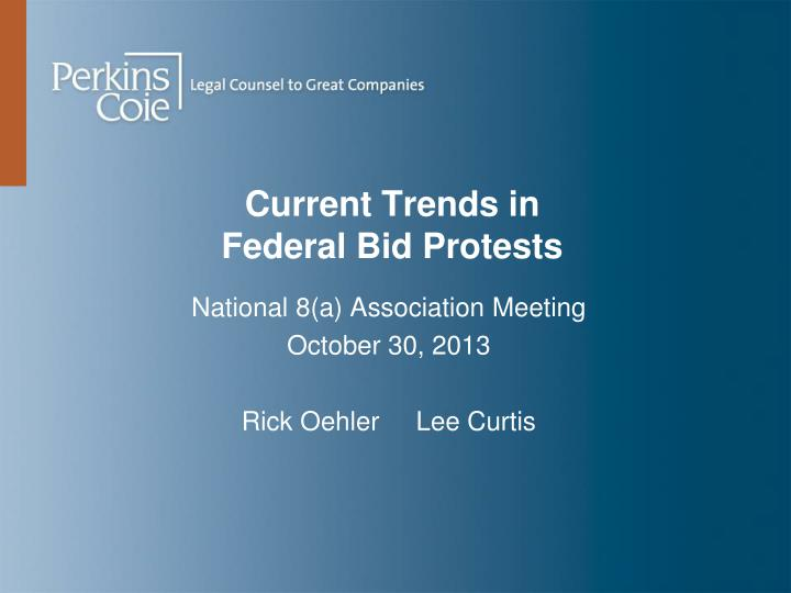 current trends in federal bid protests n.