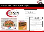 campus fire safety month sept