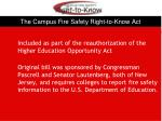 the campus fire safety right to know act