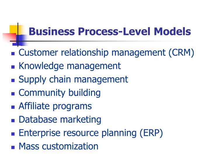 Business Process-Level Models