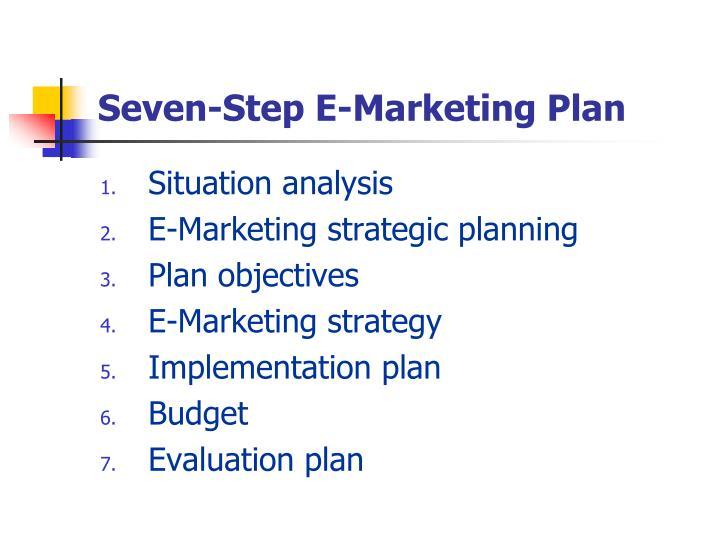 Seven-Step E-Marketing Plan